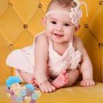 Pink Baby Flower Headband, Newborn ..