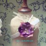 Purple Baby Flower Headband, Newbor..